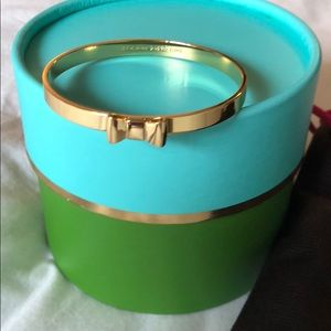 NEW WITH BOX Kate Spade gold bow bangle bracelet